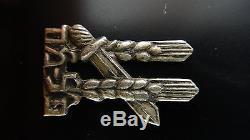 Rare Vtg Israel Silver Pin Badge Palmach Hagana Idf Military Palestine Haganah