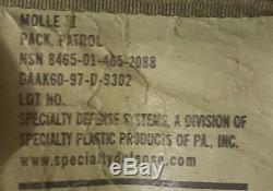 SDS MOLLE II PACK, PATROL NSN 8465-01-465-2088 IDF ZAHAL israeli army backpack