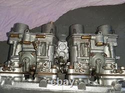 SET WEBER IDF 40 13 15 FOR FIAT 124 131 original full rebult ready to put