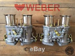 Satz (2x) 44 IDF 71 Weber Vergaser Doppelvergaser VW Käfer Porsche 356 912