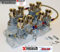 Small Block Chevy 283 327 350 Weber kit withintake, linkage & genuine 44IDF webers