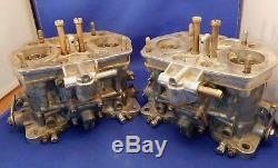 VINTAGE Pair ITALIAN WEBER 40 IDF 2bbl REBUILT CARB CARBURETORS Volkswagen