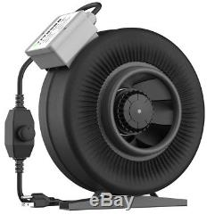 VIVOSUN 4 6 8 inch Inline Duct Fan Exhaust Air Blower with Speed Controller