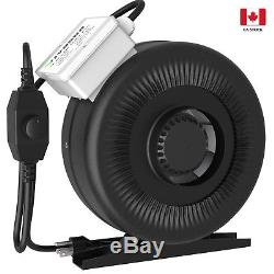 VIVOSUN 4 inch 203 CFM Inline Duct Fan Vent Air Blower with Speed Controller