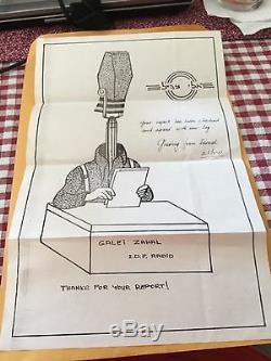 Very Rare Israeli Defense Force Radio, QSL Letter