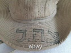 Very Rare Mandate Period Palestine Israel Military Idf Zahal Army Green Hat 40's