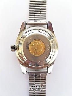 Very Rare No. M891 ETERNA Matic Super KonTiki Military IDF Diver's Watch 1970s