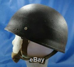 Vintage 1944 British Army BMB MK II Paratrooper Steel Helmet Airborne IDF