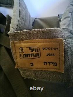 Vintage 1988 Ephod IDF Israel Army Medic Combat Tactical Assault Vest + Insignia