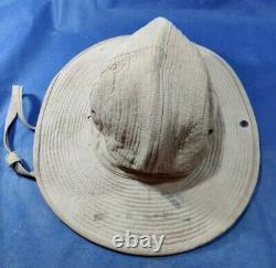 Vintage 50's Idf Zahal Soldier Khaki Hat Stetson French Made Duvoir Le Mans