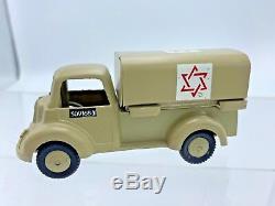Vintage Gamda IDF Ambulance DIE CAST TOY ISRAEL 1955 EXCELLENT RARE