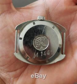 Vintage S. Steel Eterna-Matic Super Kontiki IDF Military Diver's Watch