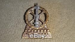 Vtg 40' Very Rare Israel Cap Badge Hagana Idf Zahal Army Hebrew