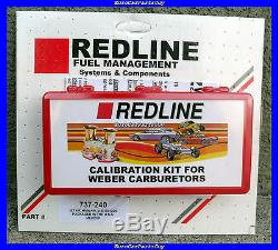 WEBER Redline 40 44 45 DCOE IDF Dual Carburetor Carb Jetting Jet Pack Kit NEW