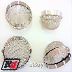 Weber 45 DCOE 44 48 IDF Carburettor Mesh Domed Slip In Trumpet Air Filters x 4