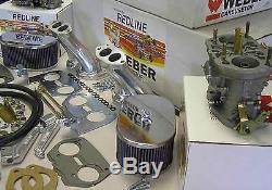 Weber Carburetor Kit VW Bug & Type 1 Dual 40 IDF tuned for VW air cooled