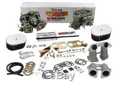 Weber Carburetor Kit VW Bus Type 2 Type 4 Porsche 914 Dual 40IDF K 1347