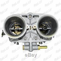 1433 Paire Carburateur Weber Type 44idf Volkswagen Beetle Fiat Porsche Avec Cornieres