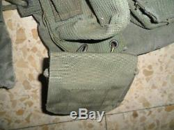 1977 L'armée Israélienne Et Lace X Retour Sangles Idf Éphod Vest Web Zahal En Israël Made
