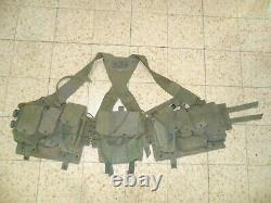 1978 Armée Israélienne La Dentelle De La Première Génération De La Dentelle Et X Bandes De Dos Idf Ephod Vest Zahal