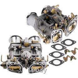 2pc 44idf Carburateur Pour Vw Fiat Porsche Beetle Bug Avec Air Horn 44 Idf 18990,030