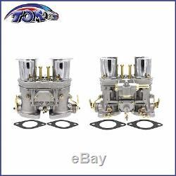 2pcs Carburateur Set 40idf Avec Air Horn Convient Volkswagen Beetle Bug Fiat