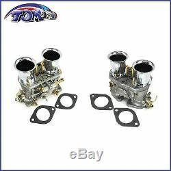 2pcs Carburateur Set Pour Volkswagen Beetle 44 Idf Weber 2 Baril Jaguar Porsche