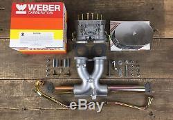 40 Idf Einvergaseranlage Weber Vergaser La Volkswagen Ansaugrohr Käfer Empi