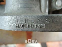 40 Idf Weber Avec Filtre Provided- Fabriqué En Espagne