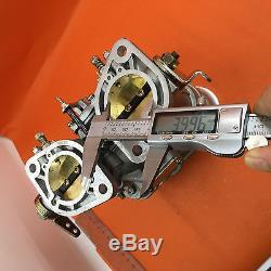 40idf Carburateur Oem + Cornes D'air De Remplacement Pour Solex Dellorto Weber Empi 40mm