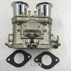 40idf Carburetor Chrome Alcool Pour Bug/beetle/vwithfiat/porsche Pour Weber Fajs