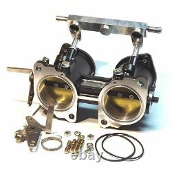 45mm Idf/drla Twin Throttle Body Injection + Rail De Carburant Weber/dellorto/solex
