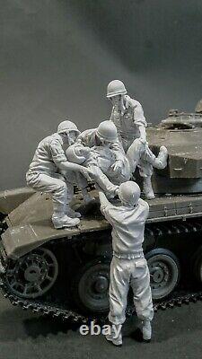 Ac Models Idf Israeli Centurion Casualty 1973 5 Figure 1/35e Kit Non Peint