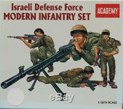 Académie 135 Force De Défense Israélienne Moderne D'infanterie Set Figure Kit # 1368