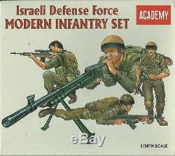 Academy 135 Kit Soldati Force De Défense Israélienne Ensemble Moderne D'infanterie Art 1368