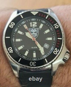 Adi 2850 Israélien Tsahal Militaire Almar 5005 Unité Sud Diver 200m Miyota Watch