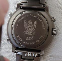 Adi Israël Idf Air Force Tuna Titane En Verre En Cristal De Saphir Armée Rare Cadeau