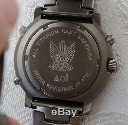 Adi Israël Idf Air Force Tuna Titane En Verre Saphir Armée Militaire Rare Cadeau
