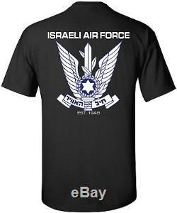 Armée De L'air Israélienne Armée Des Forces De Défense Israéliennes Noire T-shirts S-3xl