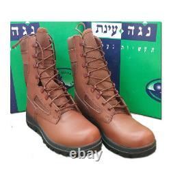 Armée Israélienne Militaire Tsahal Nouveaux Parachutistes De Combat Cuir Cordura Bottes Brunes Rouges