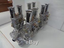 Big Block Chevy 48 Idf Econ 396 427 Quad Econ Idf Carbs Manifold Tous Nouveau
