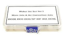 Boîte De Sélection Weber Jet No3, Réglage De La Route Roulante Weber Dcoe Dcoe / Idf Ida Dcnl
