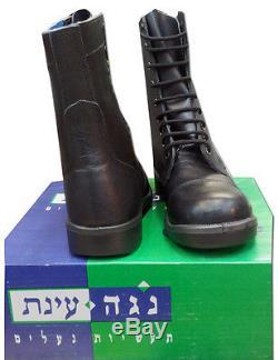 Bottes Noires Claires En Cuir De Combat Militaire Israélien