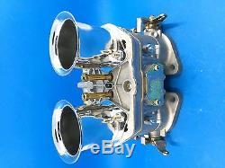 Carburateur 48idf Oem + Cornes D'air De Remplacement Pour Solex Dellorto Weber Empi 48mm