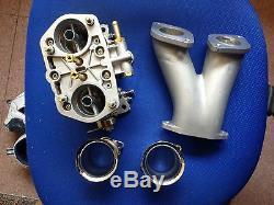 Carburateur Double De Starter De 40mm 40idf Volkswagen Fiat Porsche Manifold & Air Stacks