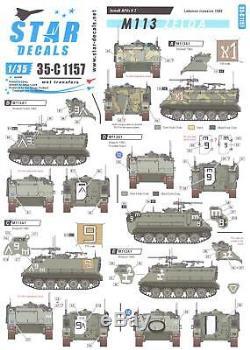 Étoile Autocollants 1/35 M113 Apc Zelda Force De Défense Israélienne Au Liban 1982