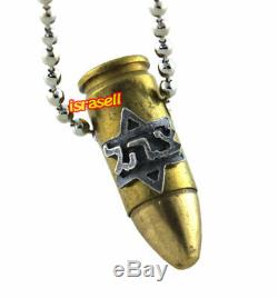 Étoile De David Magen & Zahal Uzi Bullet Collier Idf Forces De Défense Israéliennes
