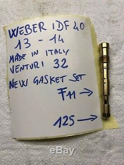 Fiat 124 Set Abarth Weber 40 Idf 13 Et 14, Original En Italien, Envoyé Par Un Fabricant