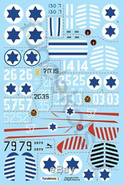 Fundekals 1/48 Autocollants À L'échelle De La Force De Défense Israélienne Spitfire Mk Ixs Fun48004