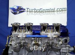 Gemini Twin Reproduction Kit Carburateurs Et Collecteur Weber 44idf 44 Rodéo Carbure Idf